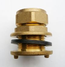 Brass 22 mm Compression Tank Connector